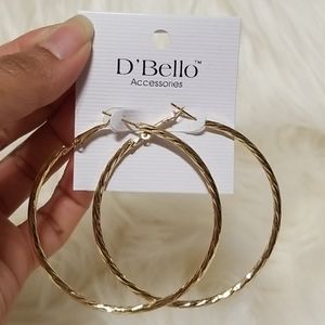 🌺jewelry 3 for $18 fashion jewelry gold hoop earr